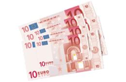 30 € in bar